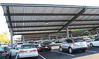 Solar PV Sunshade For Parking Lots