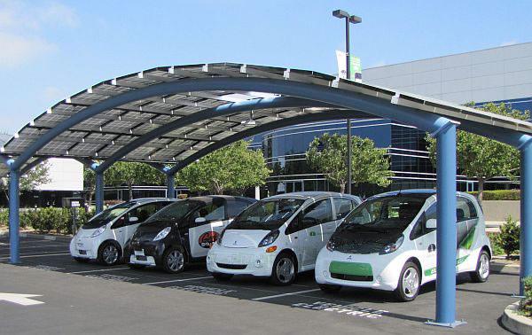 Solar Pv Sunshade Parking Lot Ev Charging System